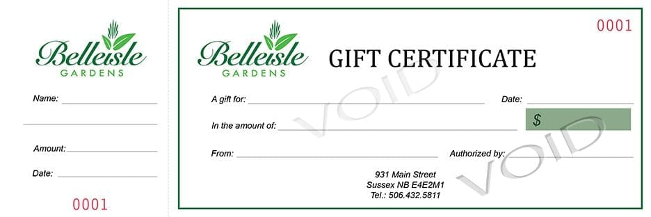 create my own gift certificate
